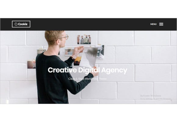 cookie multipurpose creative wordpress theme