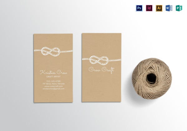 craft artist business card template