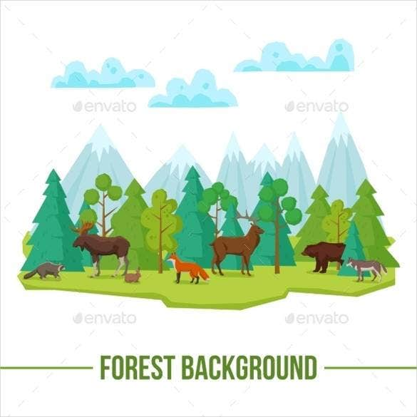 cute-forest-animals-background
