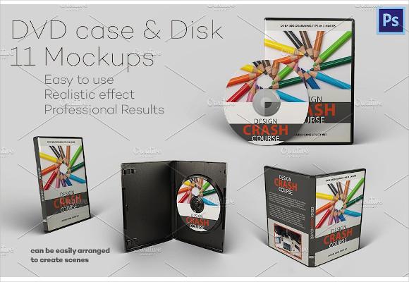 dvd case disk mockups