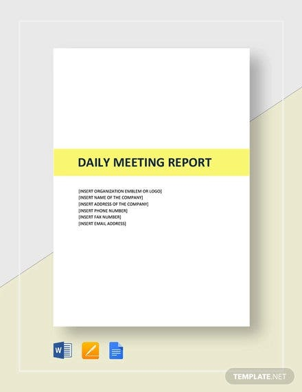 daily-meeting-report-template