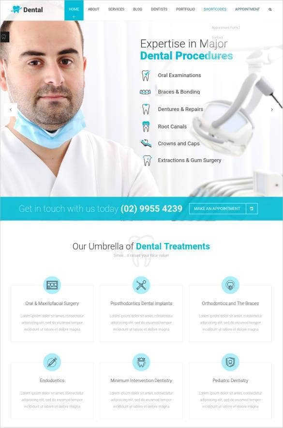 dentist clinic surgical medical website theme1