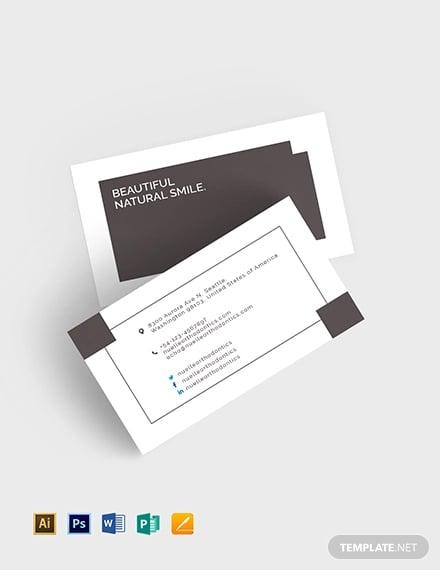 44 Dental Business Card Templates Psd