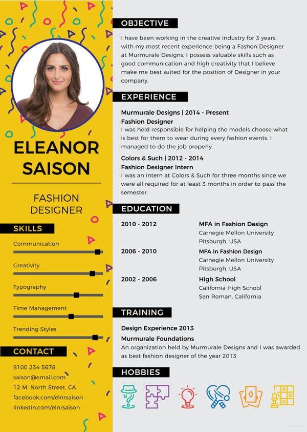 Free Best Fashion Designer Resume Template Word Doc Psd Indesign Apple Mac Apple Mac Pages Publisher Illustrator Template Net