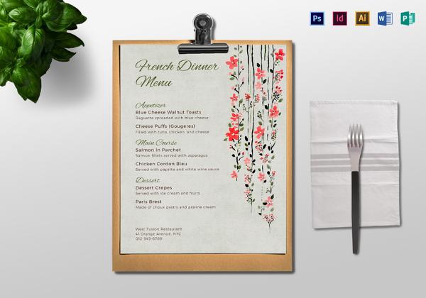 dinner-menu-template