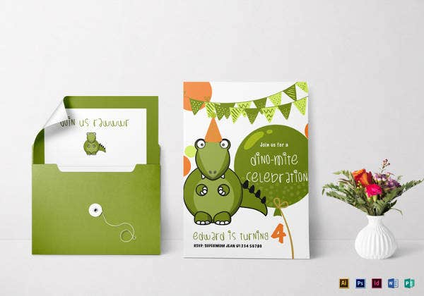 30+ Dinosaur Birthday Invitation Templates - PSD, AI, Vector EPS ...