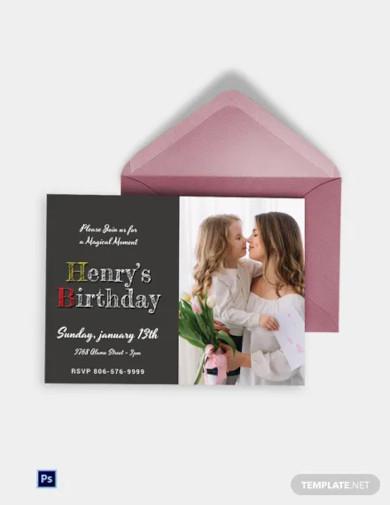 disney style birthday invitation card