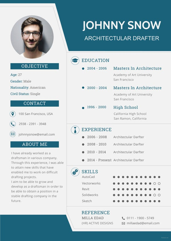 draftsman resume template