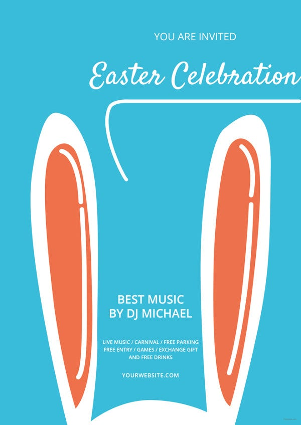 easter celebration flyer