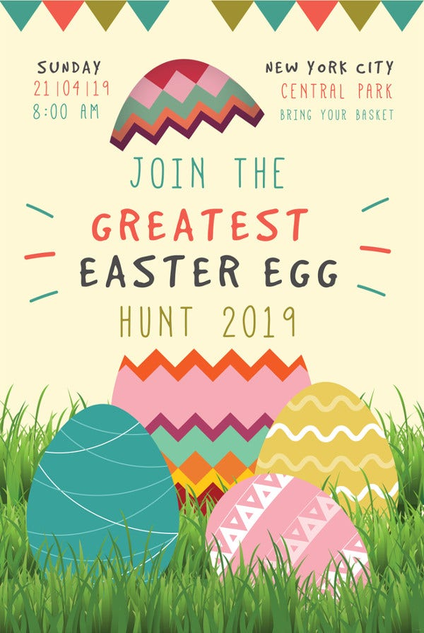 15 Easter Poster Templates PSD Illustrator Apple Pages