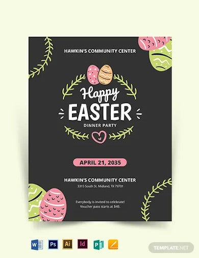 easter party flyer template