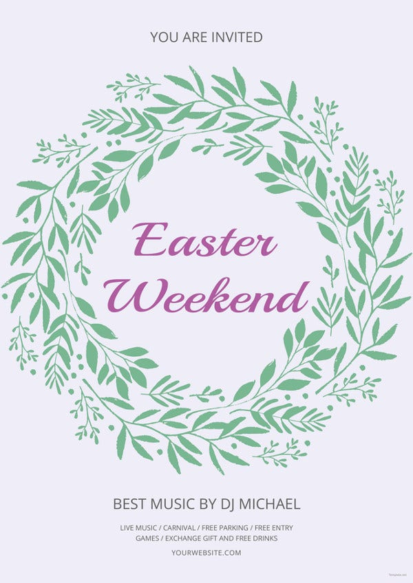 easter weekend flyer template