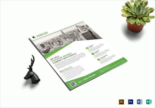 easy to edit marketing business flyer template1