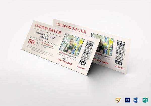 easy to edit marketing coupon