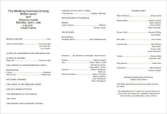 free wedding ceremony program templates koni polycode co
