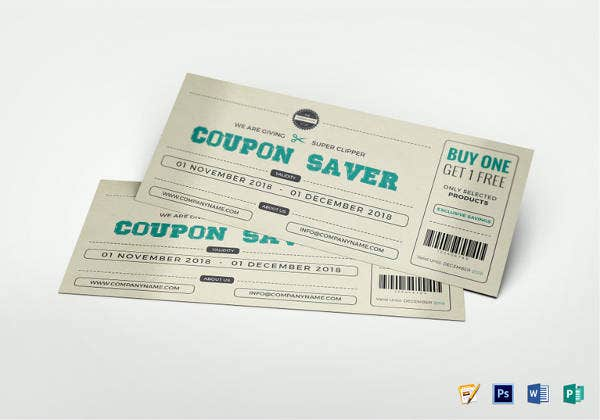 editable gift coupon design template