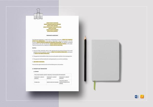 editable-roommate-agreement-template