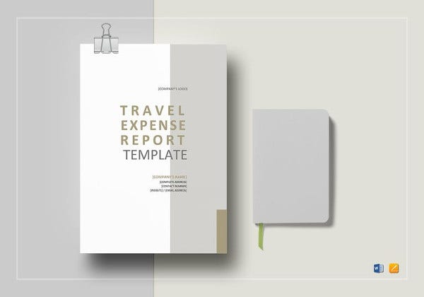 editable travel expense report template