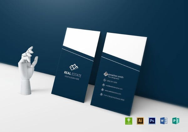 elegant real estate business card word template