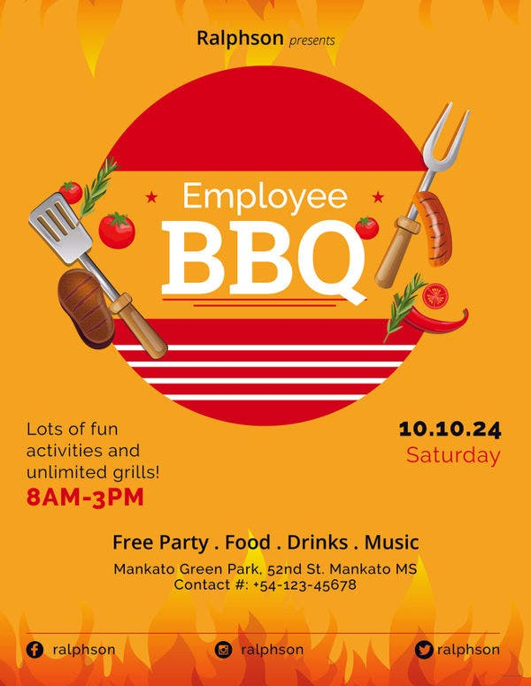 employee-bbq-party-flyer-template