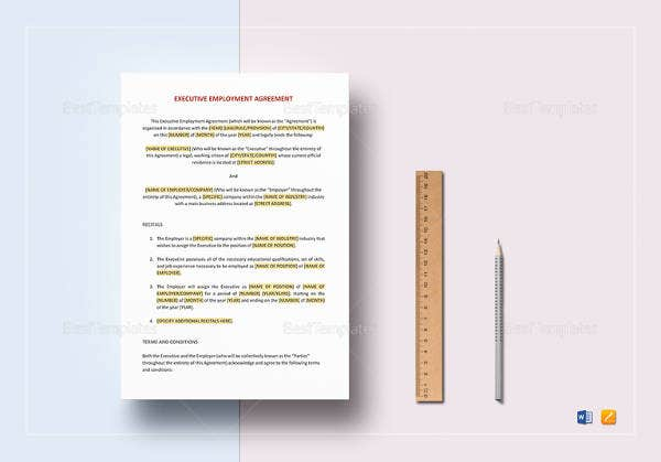 Employee Agreement Templates 19 Free Word Pdf Document Download