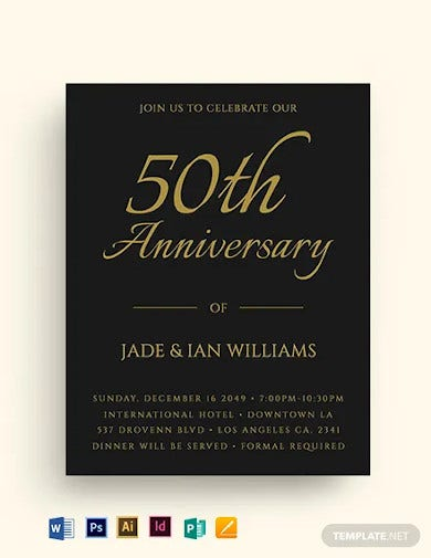 fall wedding anniversary gala flyer template