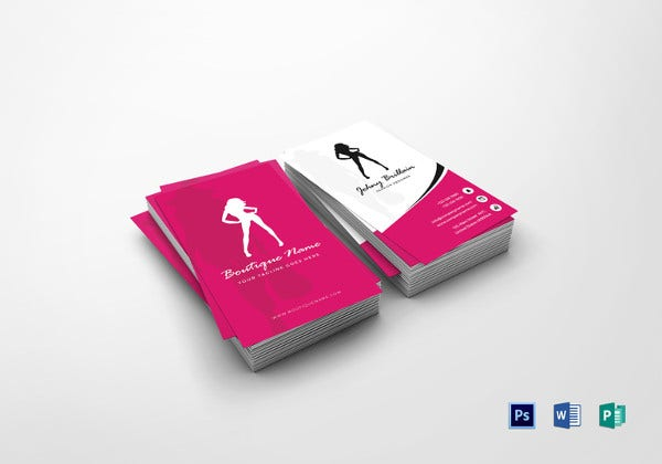 fashion designer business card photoshop template