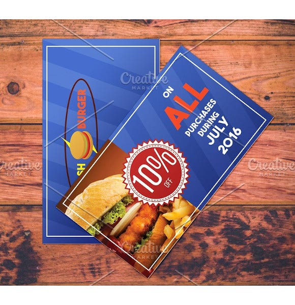 fast food restaurant coupon