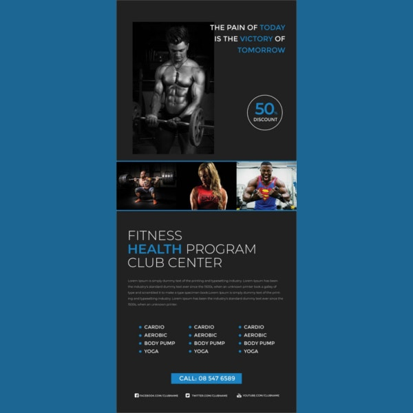 fitness rollup sample banner template1