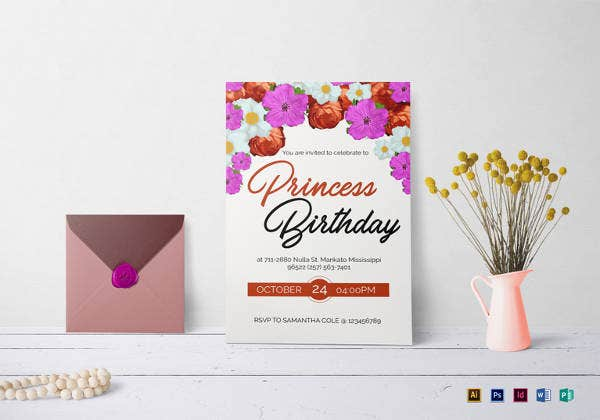 floral birthday invitation template1