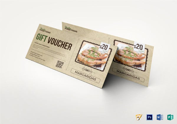 food gift coupon template