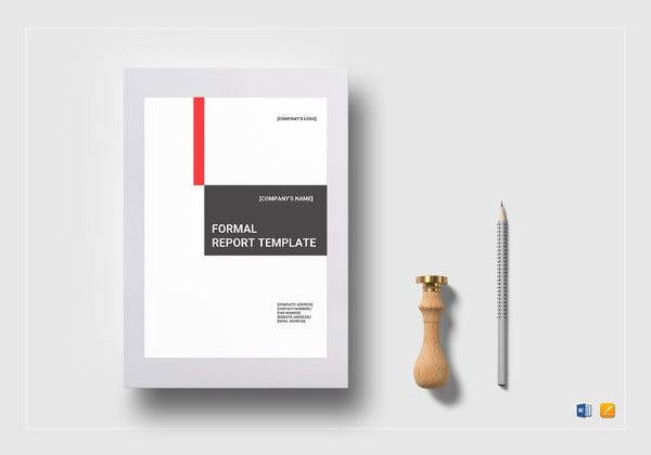 formal report template in word format1