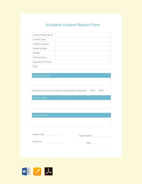 free-accident-incident-report-template