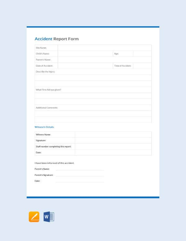 free-accident-report-form-template