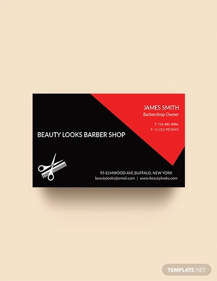 free barber shop business card