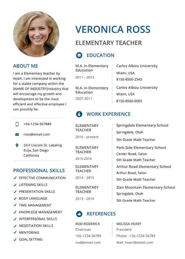 free-clean-resume-template