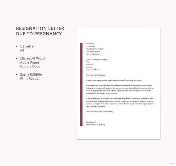 free-resignation-letter-template-due-to-pregnancy