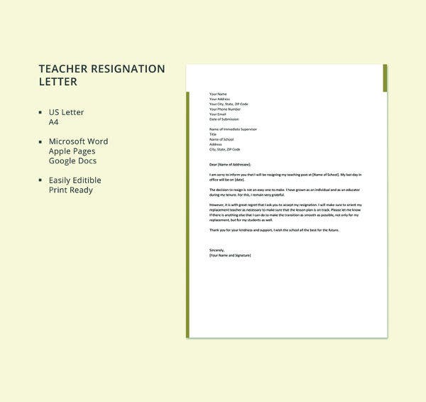 free-resignation-letter-template-for-teacher