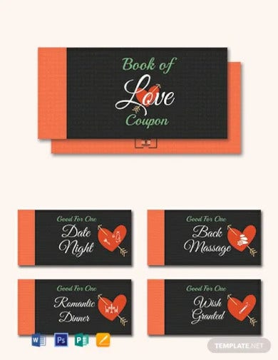 free romantic love coupon book template