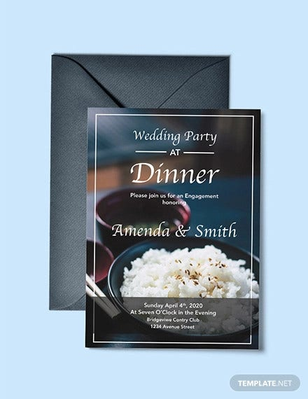 free wedding dinner party invitation template1