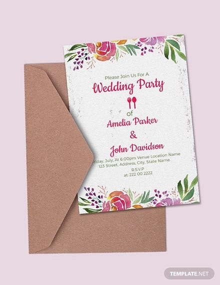 free wedding party invitation template1