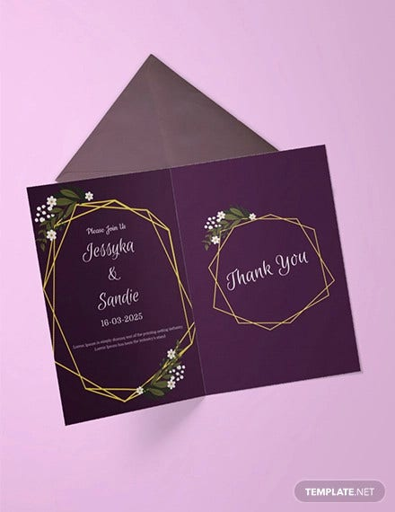 free wedding thank you invitation template1
