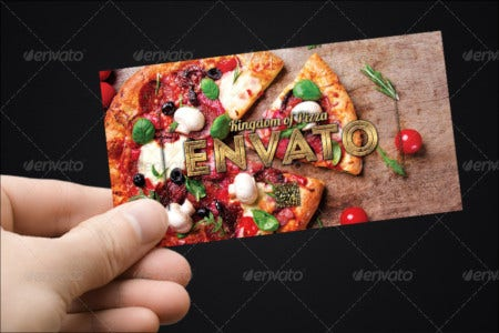gift coupon template for pizza store
