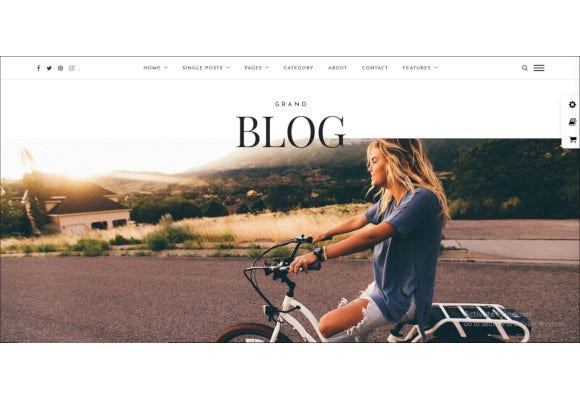 grand blog wordpress theme