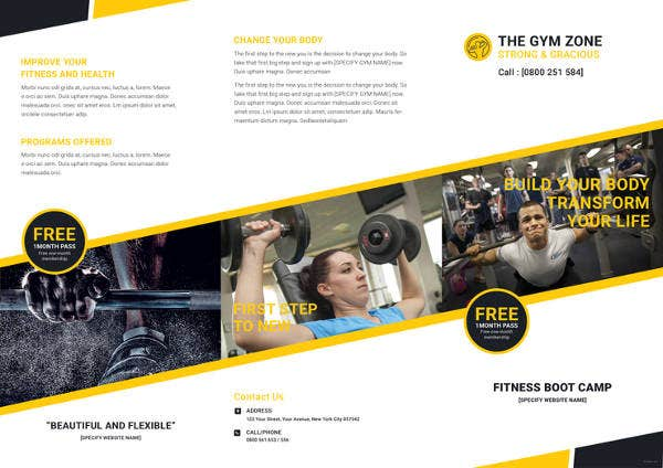 gym-tri-fold-brochure-template