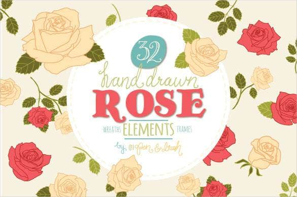 hand-drawn-rose-elements-vector