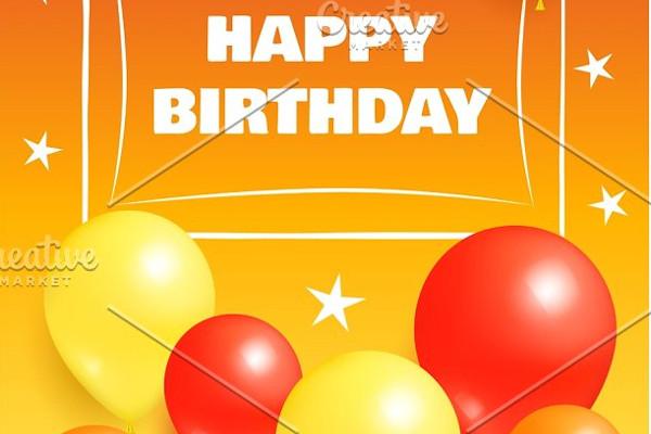 happy birthday background invitation1