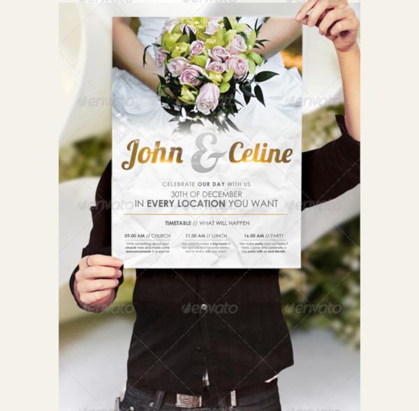 happy wedding flyer template