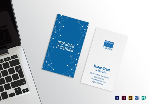 information technology business card indesign format