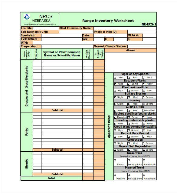 inventory-worksheet-excel-template